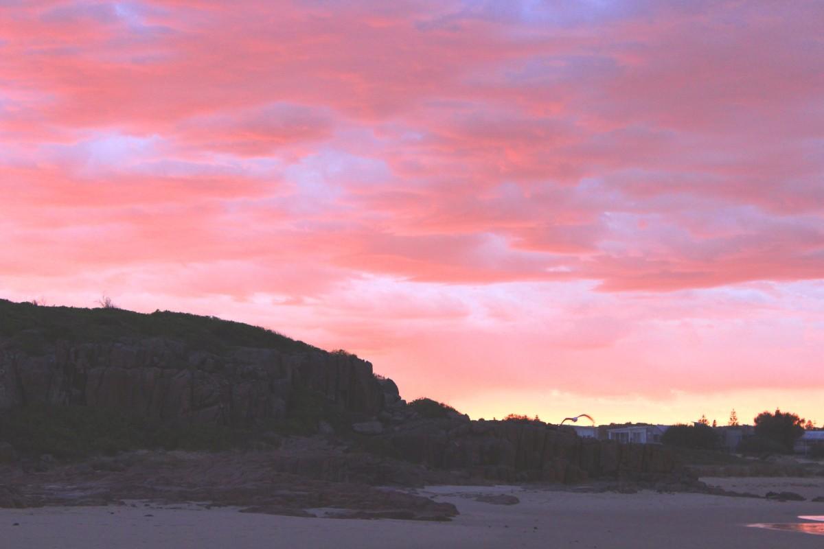 Sunrise over Birubi Beach
