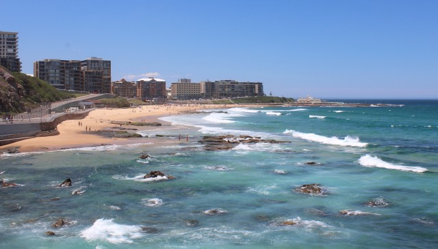 A View of Newcastle Beach